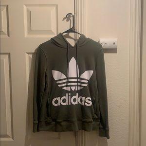 Olive green Adidas hoodie